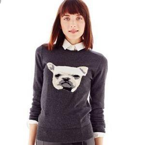 Joe Fresh French Bulldog Sweater sz L