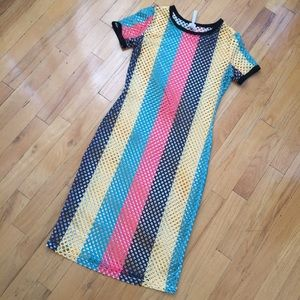 Dresses - Colorful fishnet Dress Size Small/Medium NEW