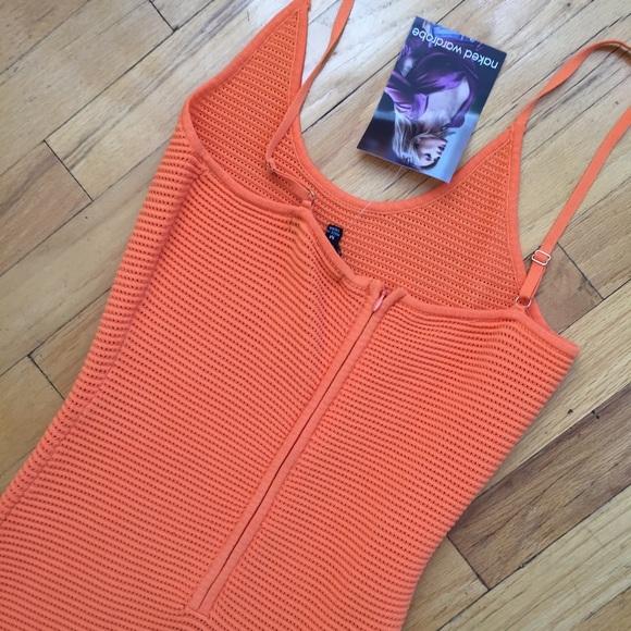 Dresses - NAKED WARDROBE TANGERINE NET MAXI DRESS SIZE MED