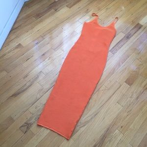 Dresses & Skirts - NAKED WARDROBE TANGERINE NET MAXI DRESS SIZE MED