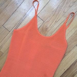 Dresses - NAKED WARDROBE TANGERINE NET MAXI DRESS SIZE MED