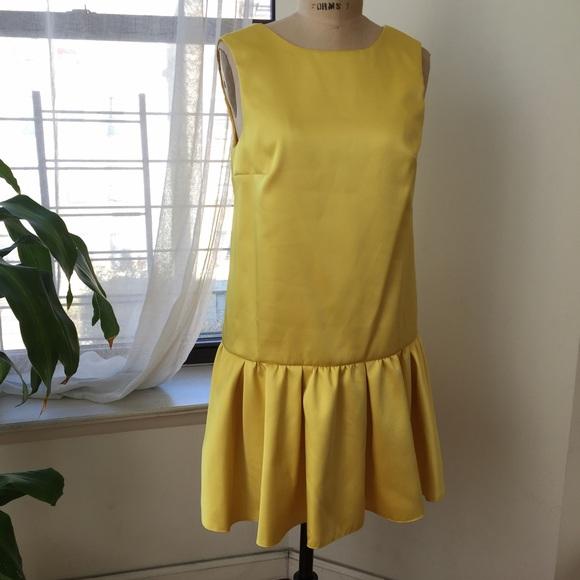 Dresses - ASOS YELLOW SATIN DRESS SIZE 6 worn once