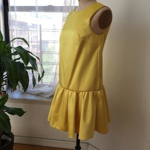 Dresses & Skirts - ASOS YELLOW SATIN DRESS SIZE 6 worn once