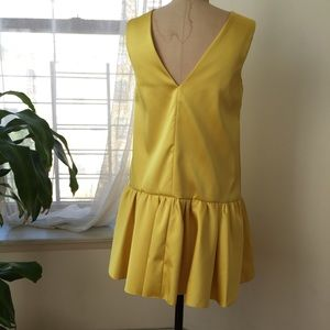 Dresses - ASOS YELLOW SATIN DRESS SIZE 6 worn once