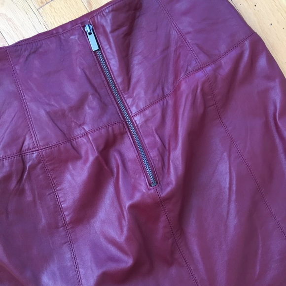 Skirts - OX BLOOD RED LEATHER SKIRT SIZE 6