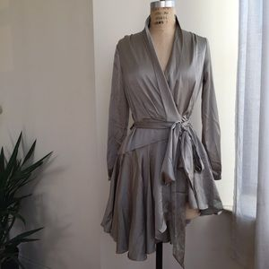 Boohoo Sage Green Dress Size 6 (US size 4)