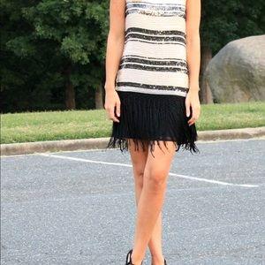 f8f6a572 Zara Dresses | Woman Flapper Fringe Sequin Dress Size Small | Poshmark