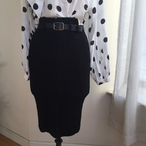 PATRIZIA PEPE HIGH WAISTED SKIRT SIZE 6