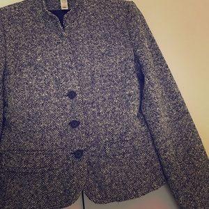 Black n white tweed suit jacket