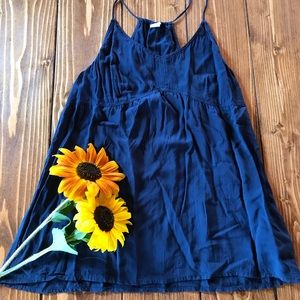 FALL SALE: Navy Flowy Tank Top