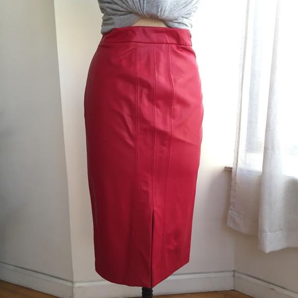 Zara Skirts - Red Faux Leather ZARA SKIRT SIZE 6