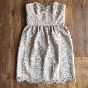 Shoshanna Silver Lace Dress