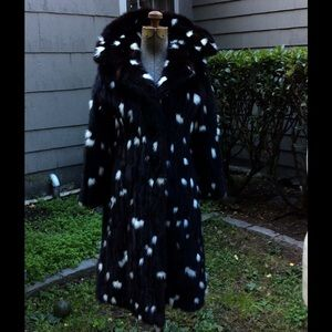 Spotted Mink coat Small size vintage exceptional