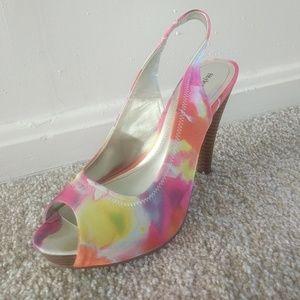 Style&Co vibrant multicolored heels