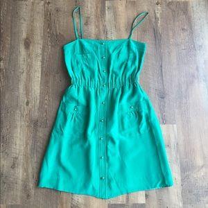 Shoshanna Silk Snap Front Dress