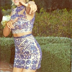 Sherri Hill genuine two piece homecoming dress!