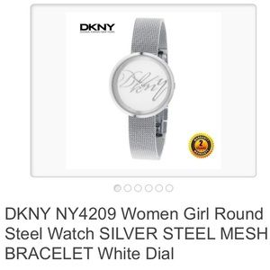 DKNY stainless steal signature watch