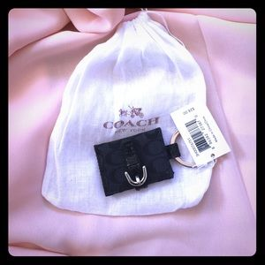 COACH Black Pic Frame Keychain NWT & Duster Bag!