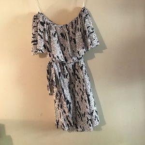 N/Nicholas print off shoulder dress