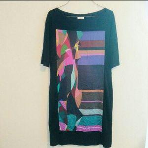 Black Geometric Suzi Chin Dress
