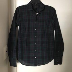 NWT Jcrew perfect fit button down plaid shirt