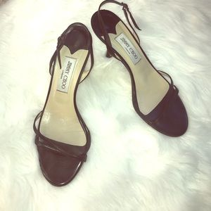 JIMMY CHOO - India black slingback heels