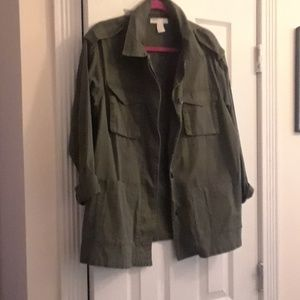 Army green oversized jacket