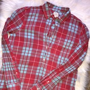 J.Crew The Perfect Shirt Plaid Button Up