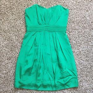 Shoshanna Strapless Green Cocktail Dress