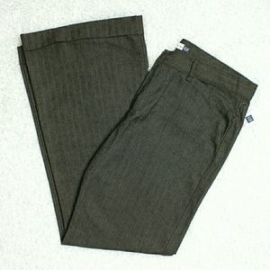 Gap Brown pinstripe flared trousers