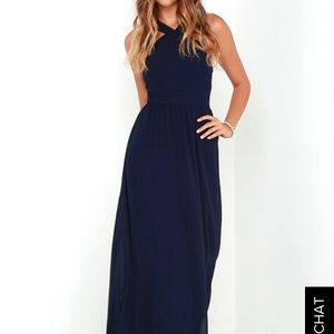 NWT navy blue maxi dress