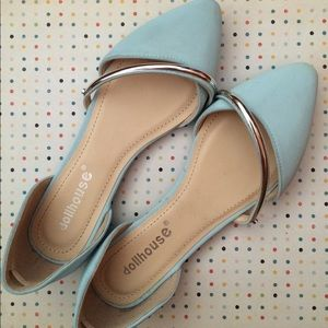 Dollhouse pastel blue flats
