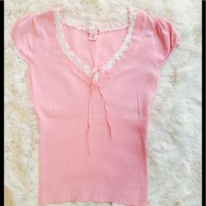 G by Guess pink sweater blouse.