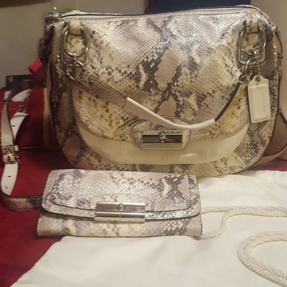 Coach Bags - Coach Kristin Phyton Embossed Satchel with Wallet