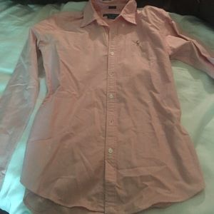Pink RL Slim Fit Tailored Button-Down