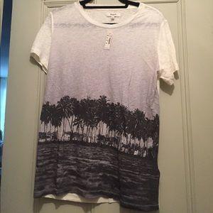 Madewell Palm Tree 100% Linen T-Shirt