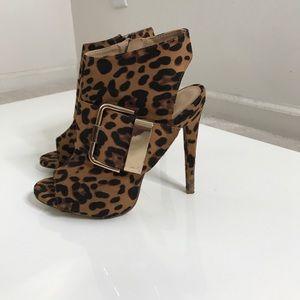 JustFab Thandi Leopard booties