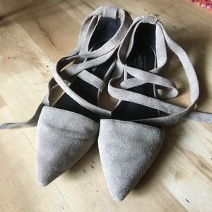 Jeffrey Campbell / Free People Ankle Wrap Flats