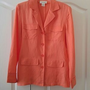 Linen Jacket in beautiful salmon color
