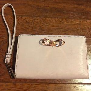 Ted Baker pale pink wristlet wallet