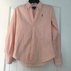 Ralph Lauren seer sucker shirt