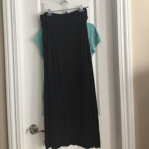 Two skirts- long. One black and one charcoal gray