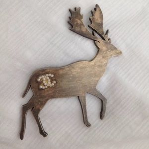 Authentic Chanel Deer Reindeer Pin Brooch