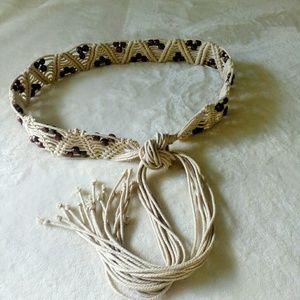 Vintage Boho Macrame Beaded Belt Versatile!!