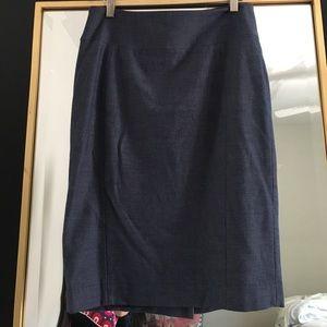 Express denim knit pencil skirt