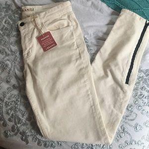 J Brand Skinny cream corduroy pants