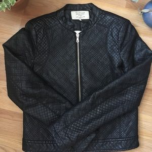 Gorgeous ZARA quilted leather jacket