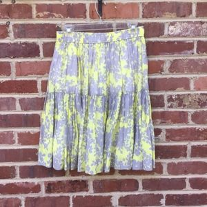 Old Navy Cotton Skirt Size XS Yellow & Gray