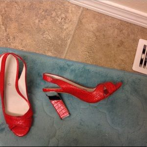 Boutique9 Leather Sexy Pumps Heels 8.5 nwot