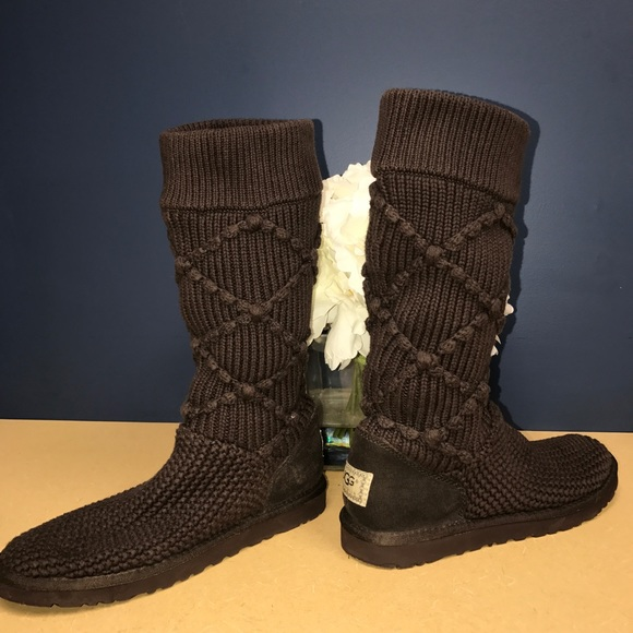 8db8fbeb9b3 Ugg Argyle Knit boots